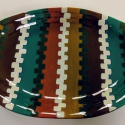 Fused glass serving plate