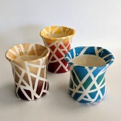 Hand-built ceramic vases