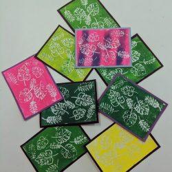 Block printed cards