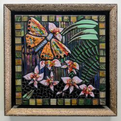 Fused glass mosaic