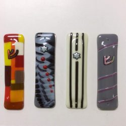 Fused glass mezuzahs