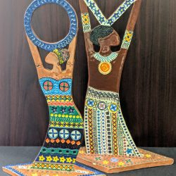 Ceramic African figurines