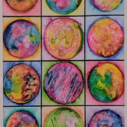 Watercolor orbs