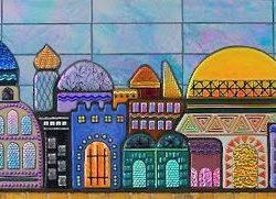 Jerusalem Skyline Mural